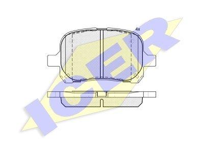 Prednje kočione obloge IE181632 - Toyota Camry 96-01