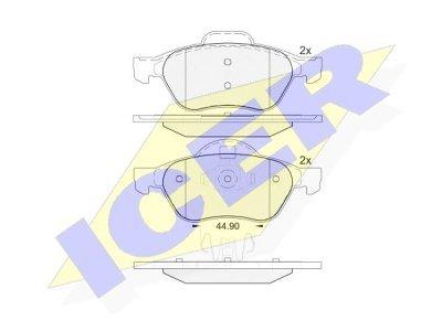 Prednje kočione obloge IE181860 - Renault Laguna 01-07