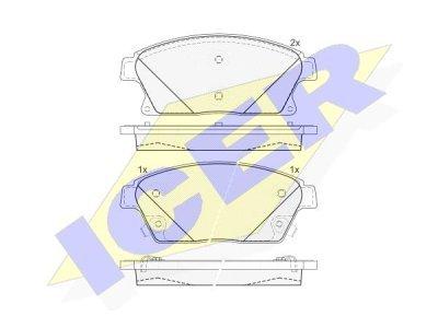 Prednje kočione obloge IE181939-202 - Chevrolet Trax 12-