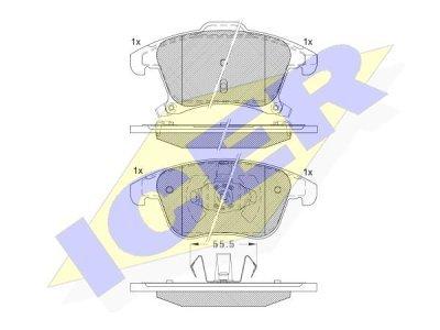 Prednje kočione obloge IE182231 - Ford Mondeo 15-