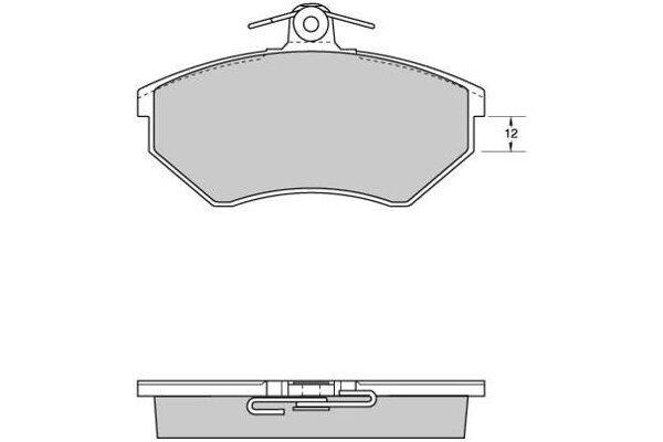 Prednje kočione obloge S70-0005 - Audi, Seat