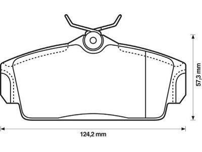 Prednje kočione obloge S70-0106 - Nissan Almera 00-07