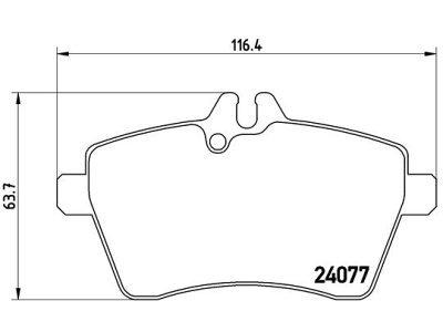 Prednje kočione obloge S70-0296 - Mercedes-Benz B-Klasa 05-11