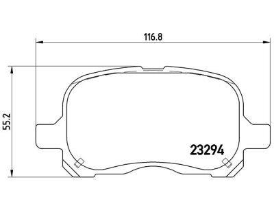 Prednje kočione obloge S70-0304 - Toyota Corolla (E11) 97-02