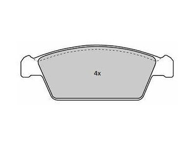 Prednje kočione obloge S70-0331 - Daewoo Tico 91-00