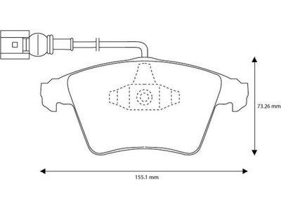 Prednje kočione obloge S70-0412 - Volkswagen Touareg 02-10