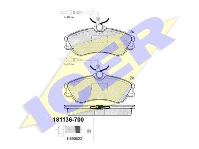 Prednje kočione pakne 43066 - Citroen, Peugeot