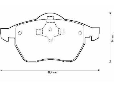 Prednje kočione pakne S70-0018 - Audi