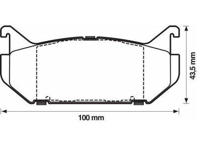 Prednje kočione pakne S70-0049 - Renault