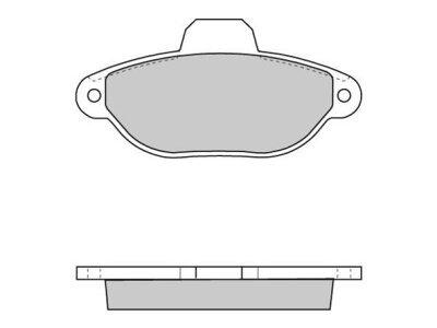 Prednje kočione pakne S70-0050 - Fiat, Lancia