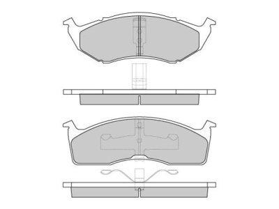 Prednje kočione pakne S70-0062 - Chrysler
