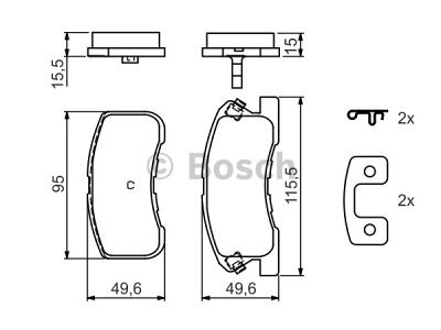 Prednje kočione pločice BS0986424697 - Daihatsu YRC 00-06