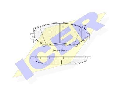 Prednje kočione pločice IE181760 - Toyota Corolla 02-