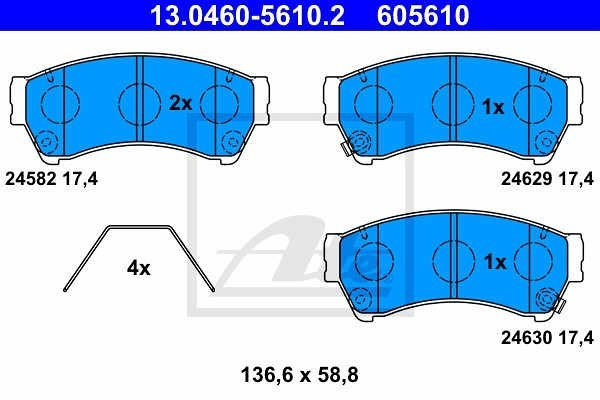 Prednje kočione pločice - Mazda 6 08-