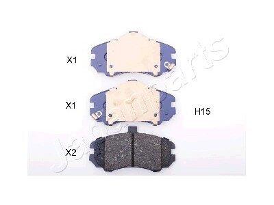Prednje kočione pločice PA-H15AF - Hyundai Elantra 00-06