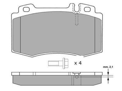 Prednje kočione pločice S70-0198 - Mercedes-Benz Razred C 00-07