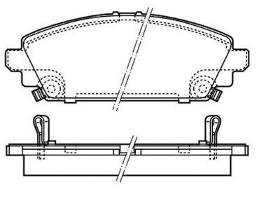 Prednje kočione pločice S70-0462 - Honda Accord 98-02