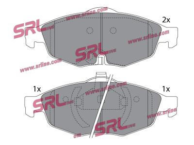 Prednje kočione pločice S70-0543 - Chrysler, Dodge