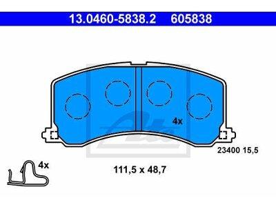 Prednje obloge kočnica 13.0460-5838.2 - Suzuki Baleno 95-02
