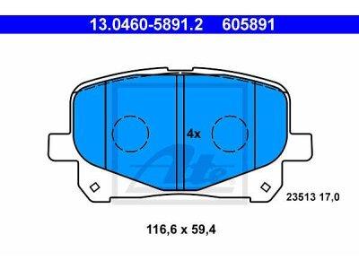 Prednje obloge kočnica 13.0460-5891.2 - Toyota Previa 00-06