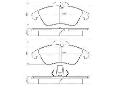 Prednje obloge kočnica BS0986424218 - Mercedes-Benz Sprinter 95-00