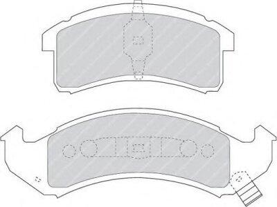 Prednje obloge kočnica S70-0187 - Chevrolet Camaro 93-99