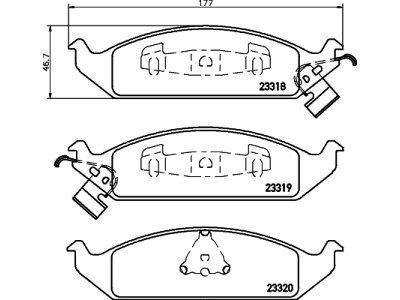Prednje obloge kočnica S70-0432 - Chrysler Stratus 95-00