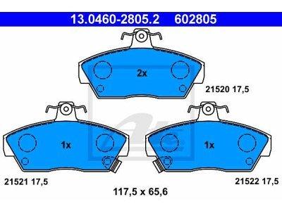 Prednje zavorne obloge 13.0460-2805.2 - Rover 200, 400