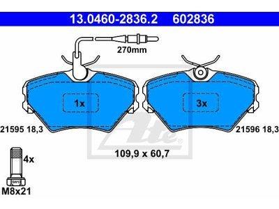 Prednje zavorne obloge 13.0460-2836.2 - Renault Laguna 94-01