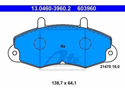 Prednje zavorne obloge 13.0460-3960.2 - Ford Transit 86-00