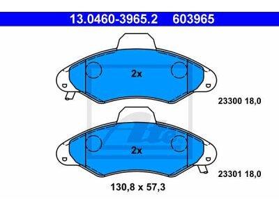 Prednje zavorne obloge 13.0460-3965.2 - Ford Escort 95-