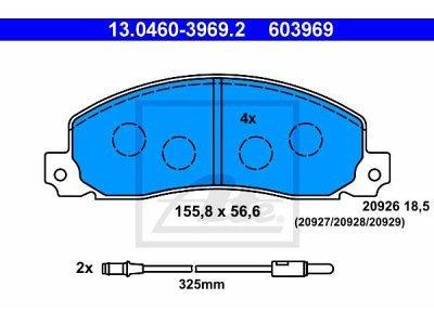 Prednje zavorne obloge 13.0460-3969.2 - Renault Trafic 80-01