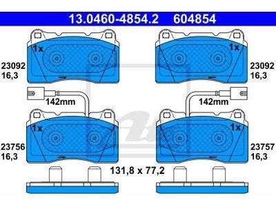 Prednje zavorne obloge 13.0460-4854.2 - Alfa Romeo Giulietta 10-