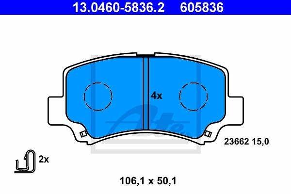 Prednje zavorne obloge 13.0460-5836.2 - Suzuki Wagon R+ 97-00