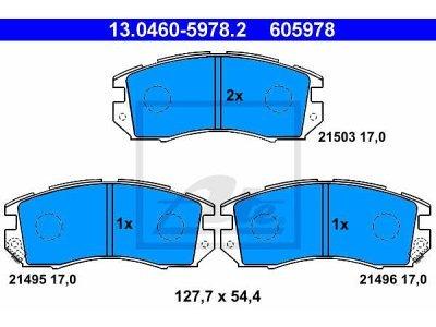 Prednje zavorne obloge 13.0460-5978.2 - Subaru