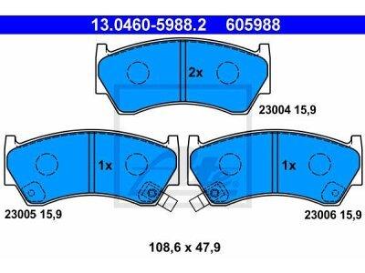 Prednje zavorne obloge 13.0460-5988.2 - Nissan Almera 95-00