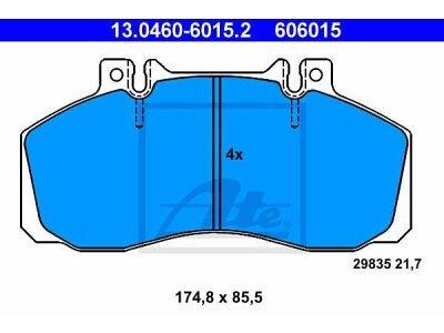 Prednje zavorne obloge 13.0460-6015.2 - Mercedes-Benz Sprinter 00-06