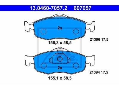 Prednje zavorne obloge 13.0460-7057.2 - Ford Mondeo