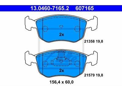 Prednje zavorne obloge 13.0460-7165.2 - Ford Escort, Mondeo, Scorpio