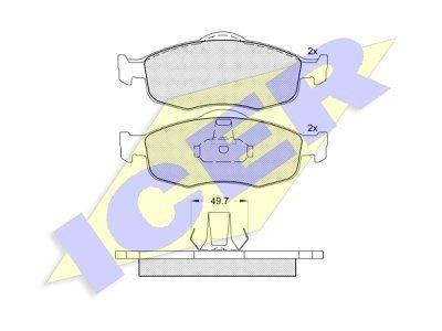 Prednje zavorne obloge 43087 - Ford