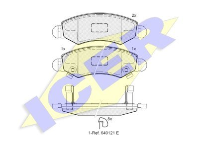 Prednje zavorne obloge 61622 - Opel, Subaru, Suzuki