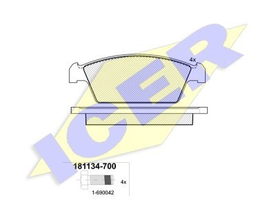 Prednje zavorne obloge 61651 - Daewoo