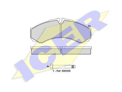 Prednje zavorne obloge 61709 - Iveco