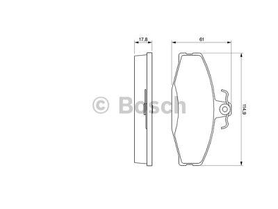 Prednje zavorne obloge BS0986424373 - Volkswagen Caddy 95-04