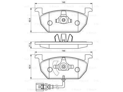 Prednje zavorne obloge BS0986494721 - Škoda Octavia 13-