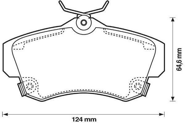 Prednje zavorne obloge - Chrysler PT Cruiser 00-10