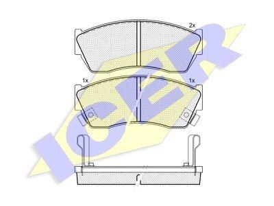 Prednje zavorne obloge Daewoo Tico 91-00