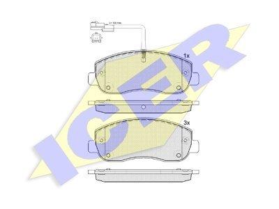 Prednje zavorne obloge IE141999 - Opel Movano