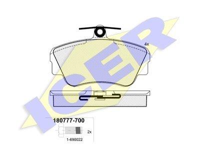 Prednje zavorne obloge IE180777-700 - Volvo Serija 400