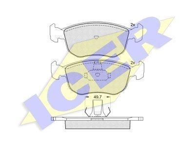 Prednje zavorne obloge IE181151 - Ford Escort, Mondeo, Scorpio